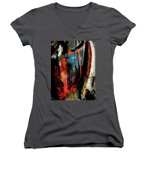 Out Of The Wreckage Women's V-Neck T-Shirt (Junior Cut) by Stephanie Grant
