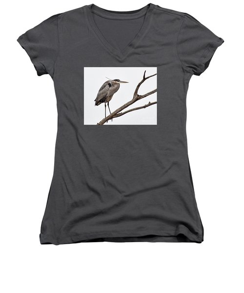 Women's V-Neck T-Shirt (Junior Cut) featuring the photograph Out On A Limb by Tamera James