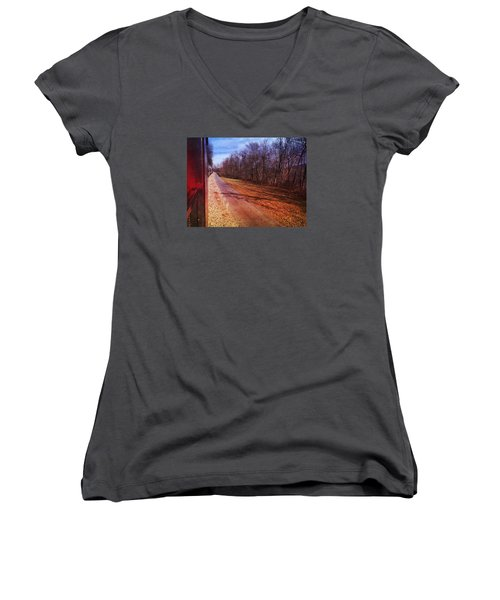 Out The Window Women's V-Neck T-Shirt