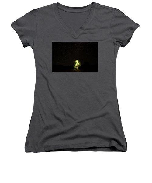 Outback Light Women's V-Neck T-Shirt (Junior Cut) by Paul Svensen