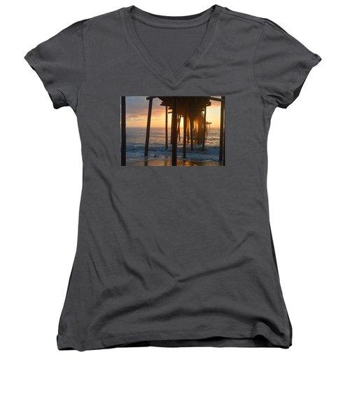 Outer Banks Pier 7/6/18 Women's V-Neck