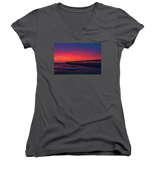 Outer Banks Sunrise Women's V-Neck