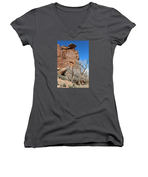 Outlaw Caprock Jump In Colorado Women's V-Neck (Athletic Fit)