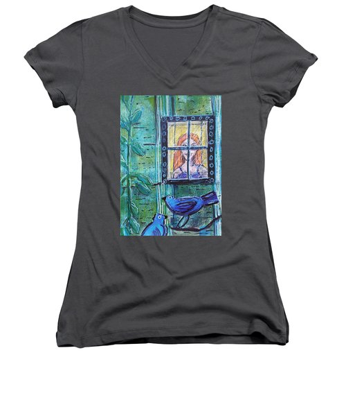 Outside My Window Women's V-Neck
