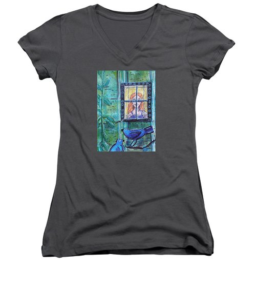 Outside My Window Women's V-Neck (Athletic Fit)