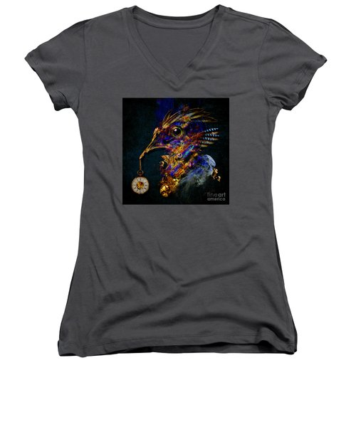 Outside Of Time Women's V-Neck (Athletic Fit)