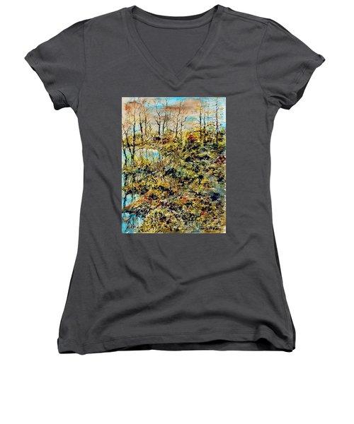Outside Trodden Paths Women's V-Neck T-Shirt (Junior Cut)