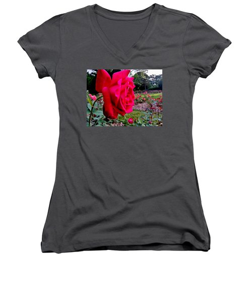 Women's V-Neck featuring the photograph Outstanding by Robert Knight