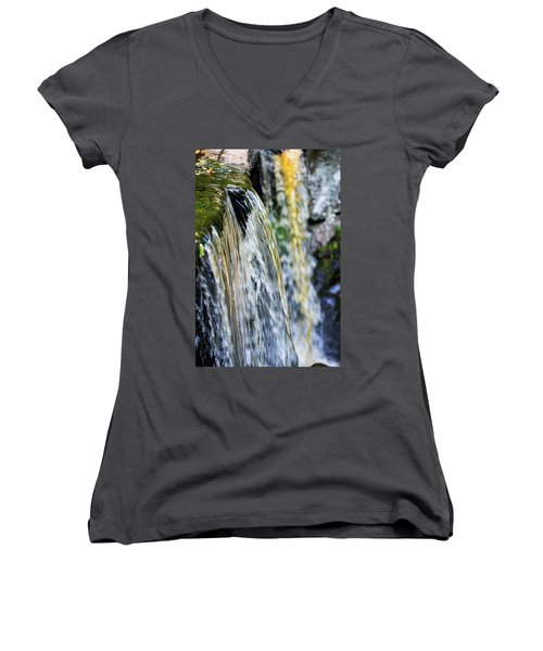 Over The Edge Visions Of Gold Women's V-Neck (Athletic Fit)