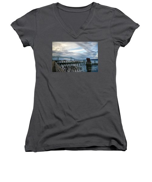 Overlooking The Bridge Women's V-Neck