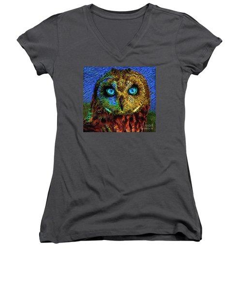 Owl Women's V-Neck