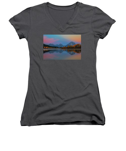 Oxbows Reflections Women's V-Neck T-Shirt