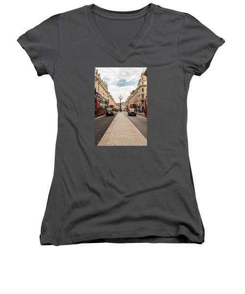 Oxford Street In London Women's V-Neck (Athletic Fit)