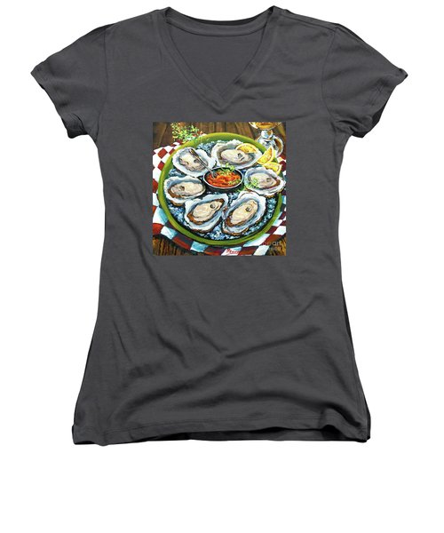 Oysters On The Half Shell Women's V-Neck