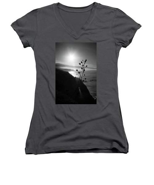 Pacific Coast B/w Women's V-Neck (Athletic Fit)