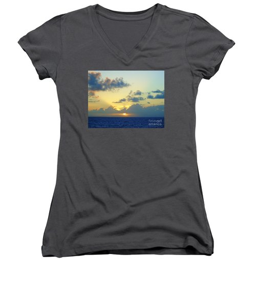 Pacific Sunrise, Japan Women's V-Neck (Athletic Fit)