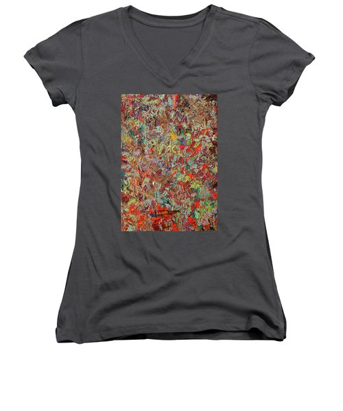 Paint Number 33 Women's V-Neck (Athletic Fit)