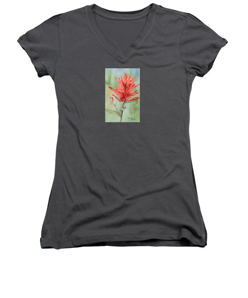 Paintbrush Portrait Women's V-Neck