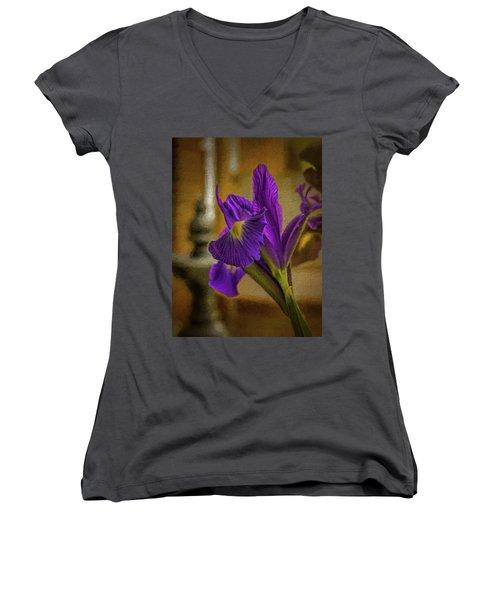 Painted Iris Women's V-Neck