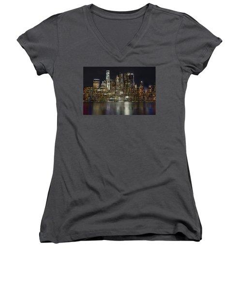 Painted Lights Women's V-Neck T-Shirt