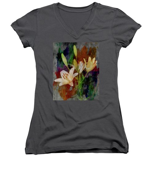 Painted Lilies Women's V-Neck T-Shirt