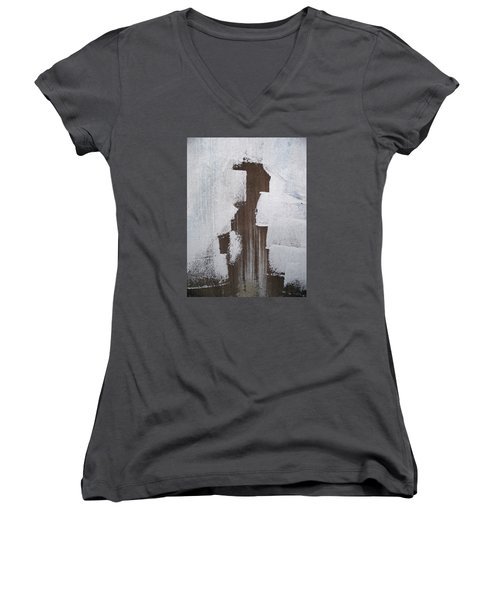 Painting Something Women's V-Neck (Athletic Fit)