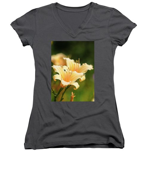 Pale Yellow Women's V-Neck (Athletic Fit)