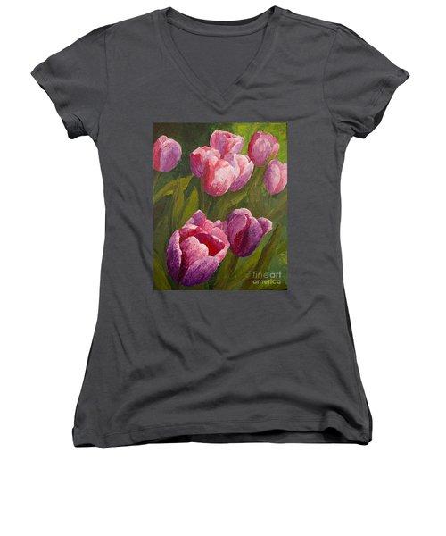 Palette Tulips Women's V-Neck