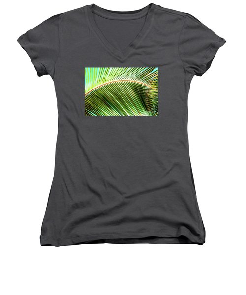 Palm Frond Sway Women's V-Neck