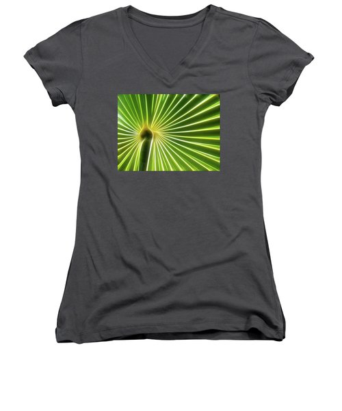 Palm Glow Women's V-Neck T-Shirt