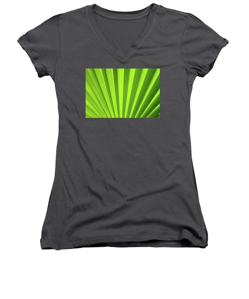 Palm Leaf Abstract Women's V-Neck (Athletic Fit)