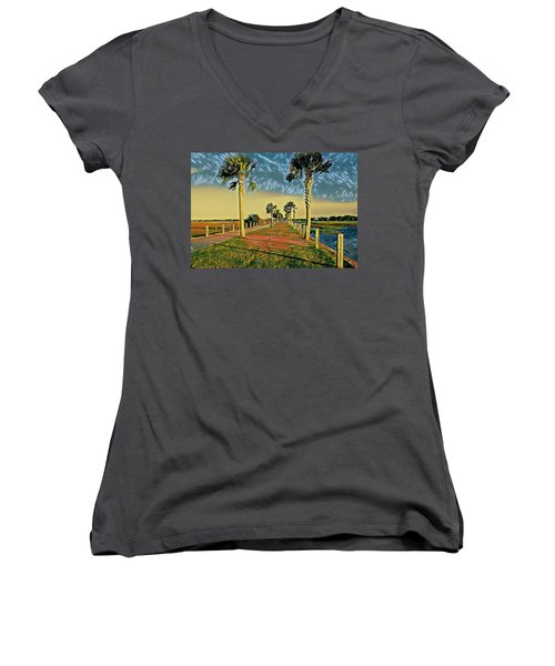 Palm Parkway Women's V-Neck