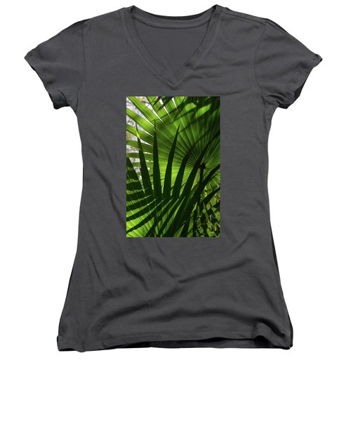 Palm Study 1 Women's V-Neck T-Shirt
