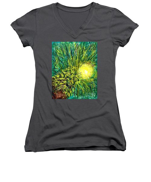 Palm Sunburst  Women's V-Neck