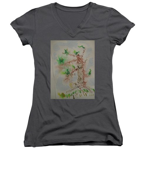 Palm Tree Women's V-Neck T-Shirt