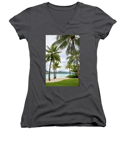 Palm Trees 1 Women's V-Neck T-Shirt