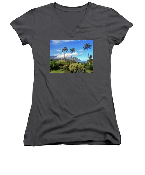 Palms At Hanalei Women's V-Neck (Athletic Fit)