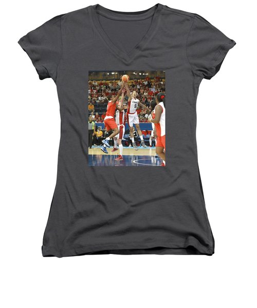 Pam Am Game Womens' Basketball Women's V-Neck (Athletic Fit)