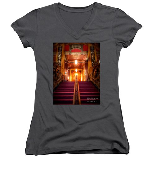 Pantages Theater's Grand Staircase Women's V-Neck