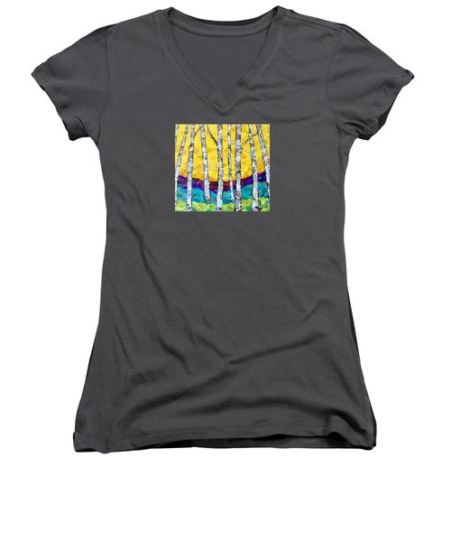 Paper Birch 2 Women's V-Neck (Athletic Fit)