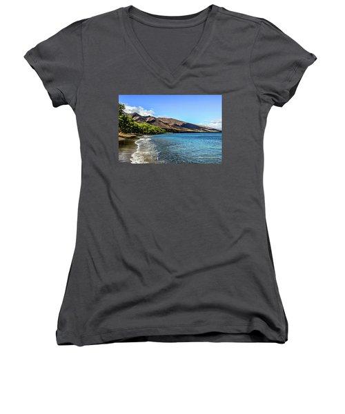 Women's V-Neck T-Shirt (Junior Cut) featuring the photograph Paradise by Joann Copeland-Paul