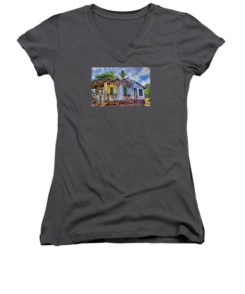 Paradise Lost Women's V-Neck T-Shirt (Junior Cut) by Nadia Sanowar