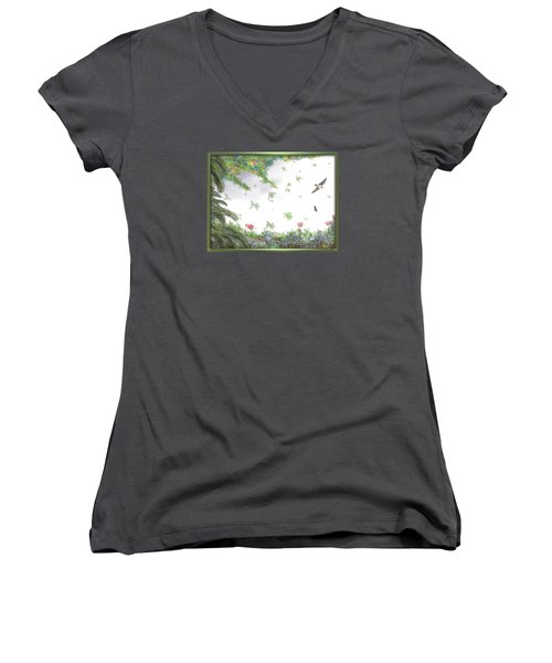 Paradise Without War Women's V-Neck T-Shirt (Junior Cut)