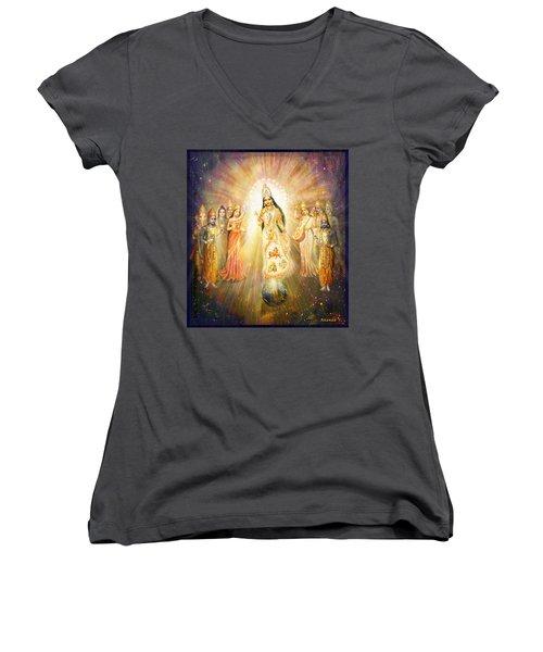 Parashakti Devi - The Great Goddess In Space Women's V-Neck T-Shirt