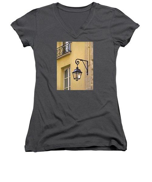 Paris Street Lamp Women's V-Neck (Athletic Fit)