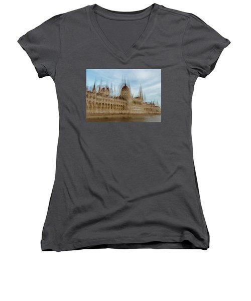 Women's V-Neck T-Shirt featuring the photograph Parliamentary Procedure by Alex Lapidus