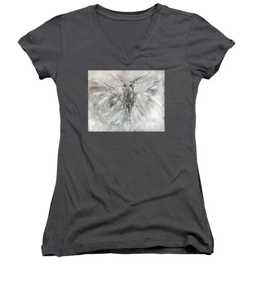 Passage Of Spirit -  The Guardian  Women's V-Neck T-Shirt