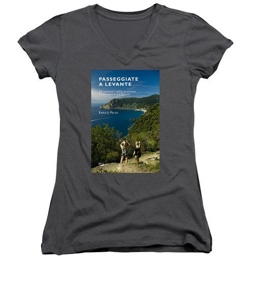 Passeggiate A Levante - The Book By Enrico Pelos Women's V-Neck