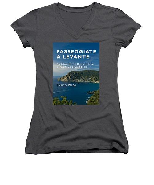 Passeggiate A Levante - The Book By Enrico Pelos Women's V-Neck