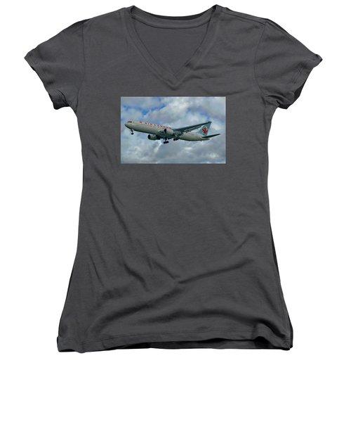 Passenger Jet Plane Women's V-Neck